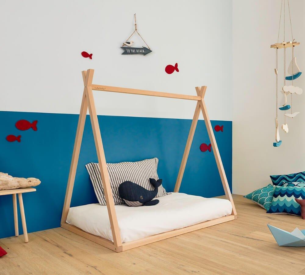 Letto Montessori.Montessori Teepee Toddler Bed Babylodge Nuvola
