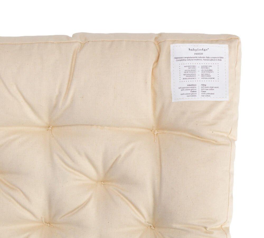 materasso 100% naturale per lettino