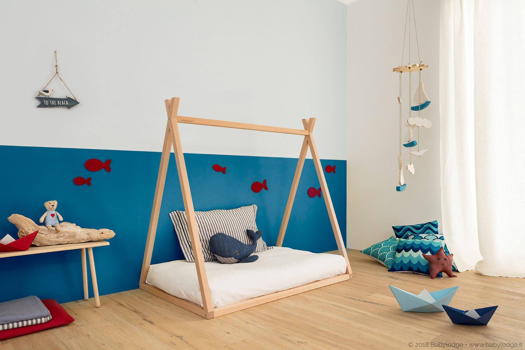 lettino montessori Babylodge per bambini in legno e personalizzabile