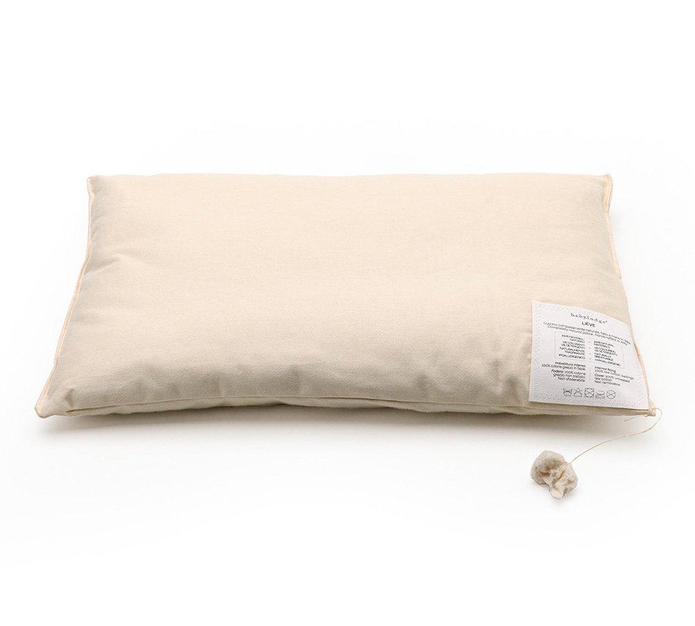 cuscino naturale per bambini, cuscino in puro cotone, cuscino naturale, guanciale cotone, guanciale naturale, Babylodge,